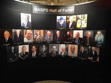 Tioga founder's picture, Mort Keiser, on display as part of the NASPD Hall of Fame
