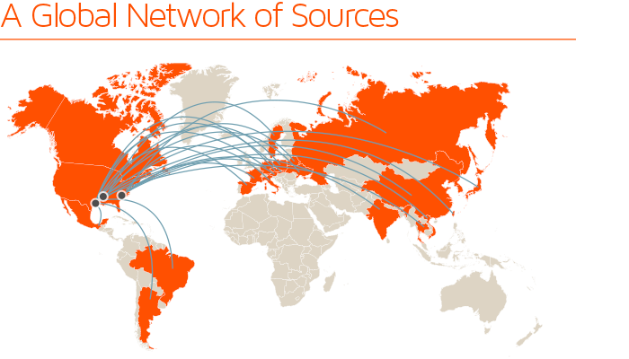 A Global Network of Sources